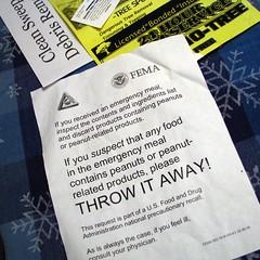 FEMA emergency meal recall