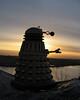 a dalek at dawn (Johnson Cameraface) Tags: winter sun sunrise dawn doctorwho dalek february 2009 skaro a540 clawful metaltron