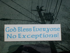 no exceptions? (whatsrumrumplestilskin) Tags: hello light love rain reflections hope cool rainyday darkness god happiness powerlines help bumpersticker everyone bless riseup wilmingtonnorthcarolina noexceptions godblesseveryone rumplestilskin