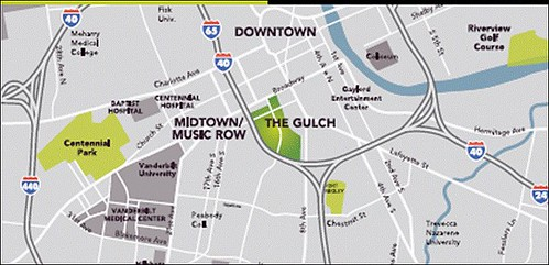 location of The Gulch (by: MarketStreet Enterprises)