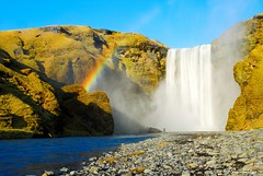 Under The Rainbow (~Svanhildur~ / ...2 Busy 4 Flickr... :( /) Tags: sky mountain me river waterfall iceland rainbow rocks skgar skgarfoss southiceland nikond60 svanhildur goldstaraward vrnikkor rubyphotographer svanhildurbjrk