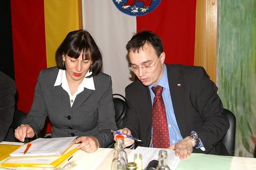 Justizministerin Marion Walsmann und Michael Panse, MdL
