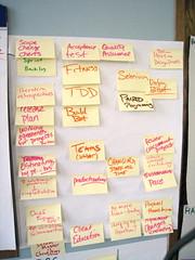 Backlog of Agile transition steps