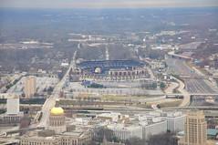The Home of the Atlanta Braves (Javier Pimentel) Tags: city atlanta usa skyline georgia downtown stadium cities ciudad ciudades estadio estadios centrourbano atlantabraves urbe peachtreetower centrosurbanos