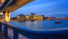 London City Hall From Tower Bridge (Philipp Klinger Photography) Tags: city uk bridge blue light shadow england sky motion blur building london tower window water glass thames architecture clouds facade river boat hall nikon ship britain united hill great illumination kingdom belfast norman foster hour gb philipp dri hdr hms klinger supershot d700 theunforgettablepictures overtheexcellence goldstaraward dcdead grouptripod