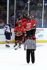 FDNY vs NYPD 89 (Nuke812) Tags: game hockey fire fight cops police nypd battle fans badges firefighter fdny finest bravest nassaucoliseum benifit