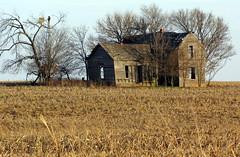 Big House on the Prairie (dearing116) Tags: house abandoned rural decay kansas prairie