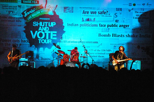 TAAQ performs at the Shut Up and Vote tour at IIT-Madras, Chennai