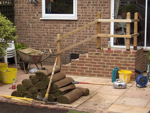 Indian Sandstone Patio and Lawn Image 15
