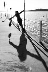 happiness (plicci) Tags: shadow lake girl lago sunday isabella domenica bwdreams