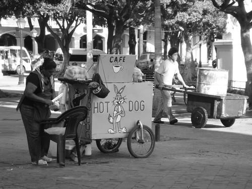 Street vendors in Granada, Nicaragua.