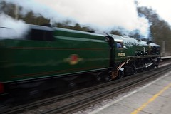 clan line at speed (frisar1) Tags: vsoe worplesdon uksteam 35028 clanline