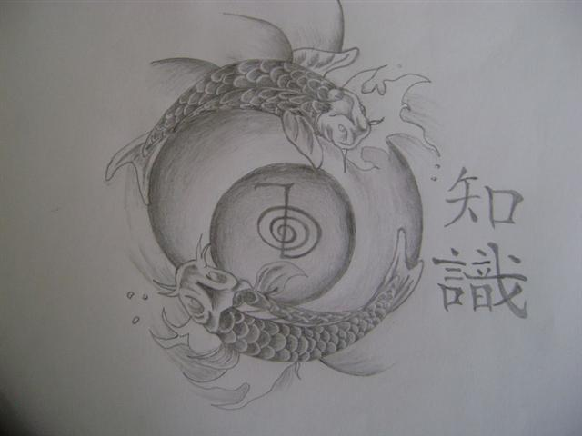 koi fish tattoo design Photo posted in Freehand Drawings Paintings