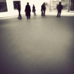 visitors... (littlehonda.) Tags: people 6x6 square gallery paintings outoffocus gr vignette littlehondaphotographycouk
