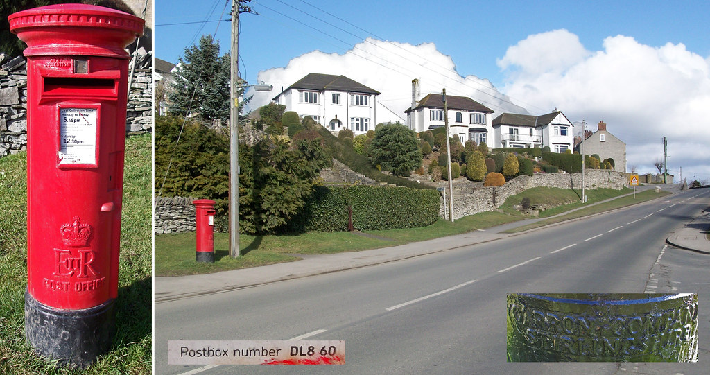 DL8 60: EiiR pillar box, Richmond Road, Leyburn
