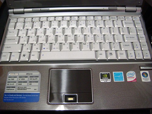 Asus U6Vc 筆電 ─ 內部鍵盤造型