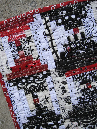 close up of quiltie