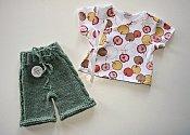 'Fresh Apples' Set - cabled shorties & wrap shirt - newborn