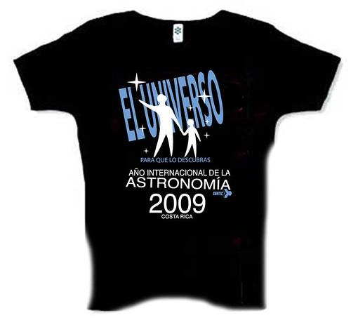 camiseta astronomía 2009