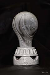 """Zero Watts"" (roboink) Tags: light electric bulb blackwhite filament burnedout roboink"