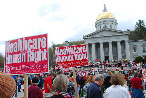 Rally at the Vermont State House in Montpelier.
