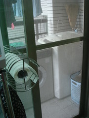 Laundry Porch is right behind kitchen sink