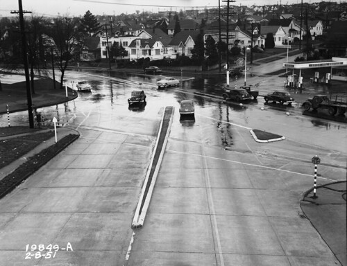 Intersection of Stone Way, Green Lake Way, and 50th Street, 1951