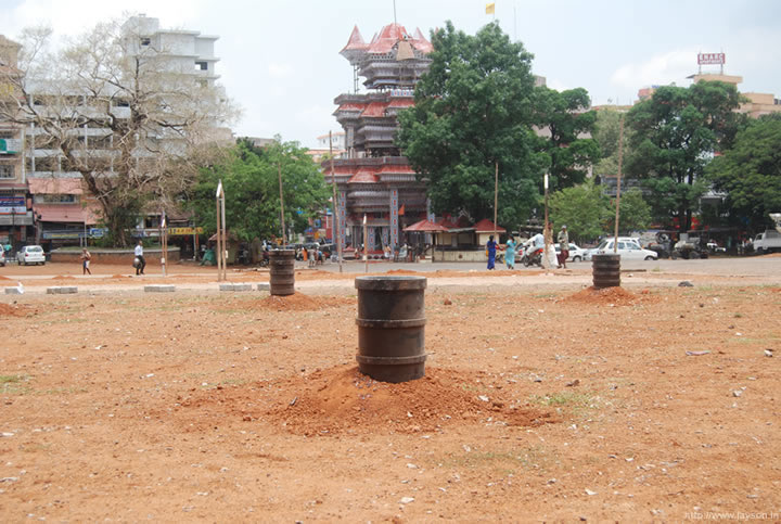 thrissur pooram -Thiruvambadi firework setup