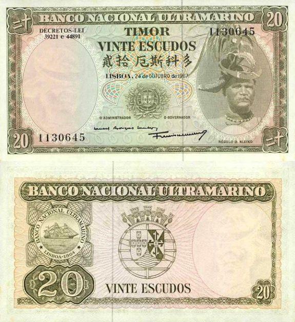 20 escudos Timor 1967