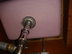 Asbestos Sink Under-Coating (Lavender) (Asbestorama) Tags: house home kitchen apartment sink inspection mineral residential survey hazardous acm hazmat asbest dwelling contamination asbestos asbesto amiante amianto undercoating