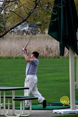 Golf swing at Lippold Park