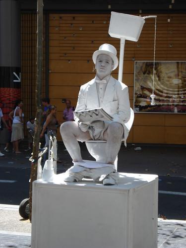 Barcellona artista di strada