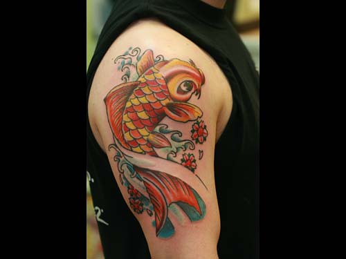 Coi fish tattoo Jae Connor
