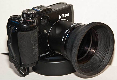 Nikon P6000 with 52mm lens adapter