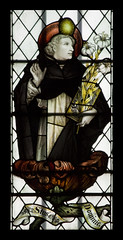 St Dominic in St John's (Lawrence OP) Tags: detail church window glass stained oxford cowley friar founder stjohntheevangelist stdominic kempe
