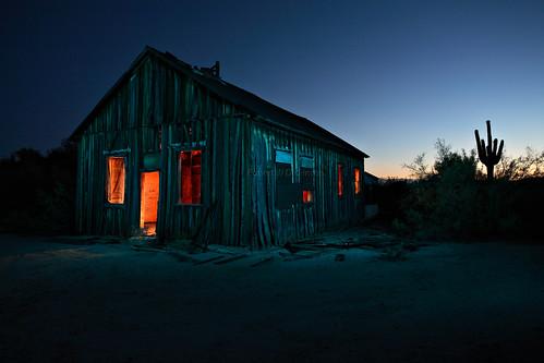 Creepy School House at Vulture Mine