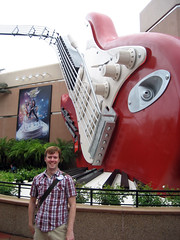 ian at hollywood studios rollercoaster