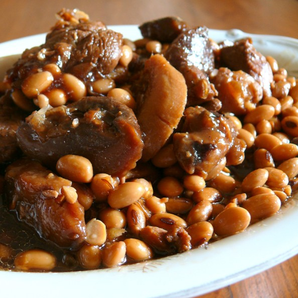 how to cook trotters and beans