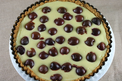Food Librarian - Cherry Cheesecake Tart