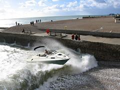 BRIGHTON SEAFRONT (alanmcfaden@btinternet.com) Tags: sea brighton speedboat trick