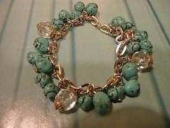 Pulsera turquesa (MjS Accesorios) Tags: cadenas bijou plata pulsera piedras cadena accesorios bijouterie