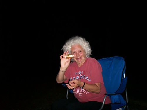 mom's first s'more