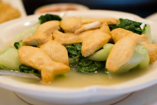 Fish Paste Tofu with Bak Choy