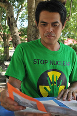 กรีนพีซในนิทรรศการต่อต้านนิวเคลียร์ ที่ชัยนาท