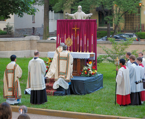 Cathedral Basilica of Saint Louis, in Saint Louis, Missouri, USA - Corpus Christi procession 7 (Sacred Heart altar)