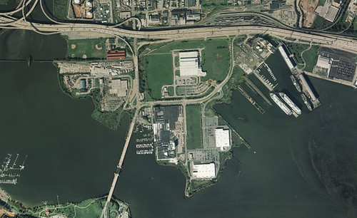 Port Covington Aerial w ships