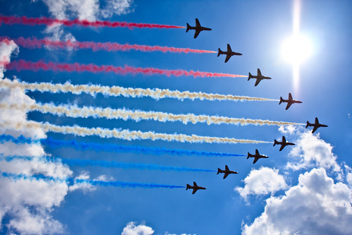 Red Arrows by garryknight.