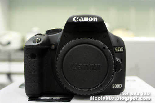 500D front view without lens