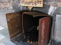 entrance to a basement beer bar