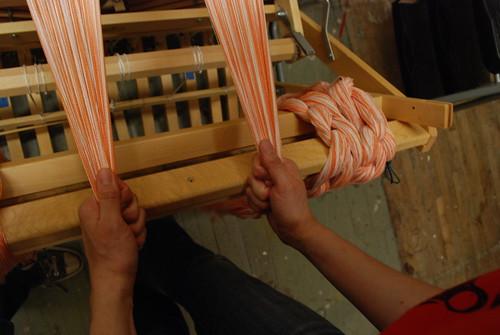 winding the warp